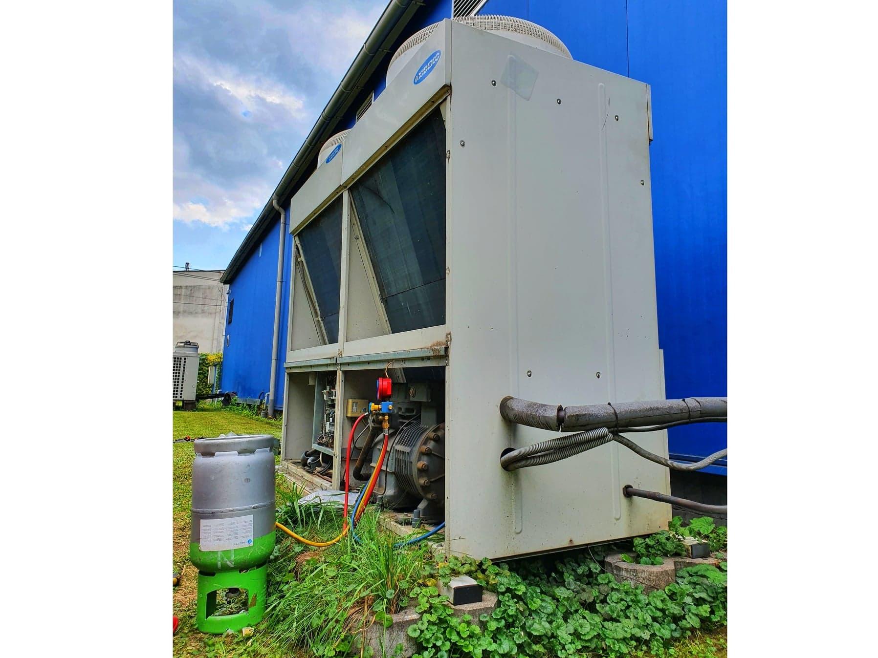 Klimatizačný agregát pre výrobnú halu